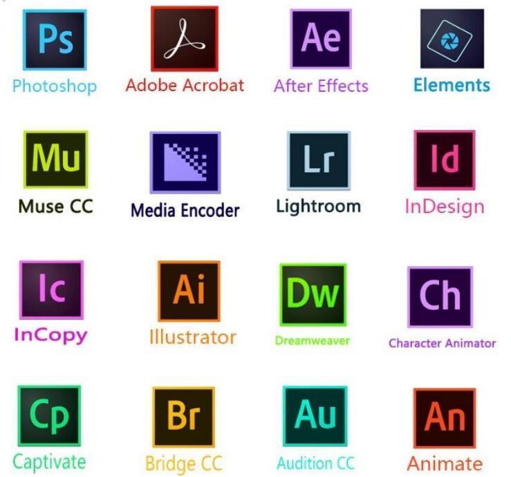 「完整直装破解版」Adobe CC 2018 全套系列设计软件全家桶!